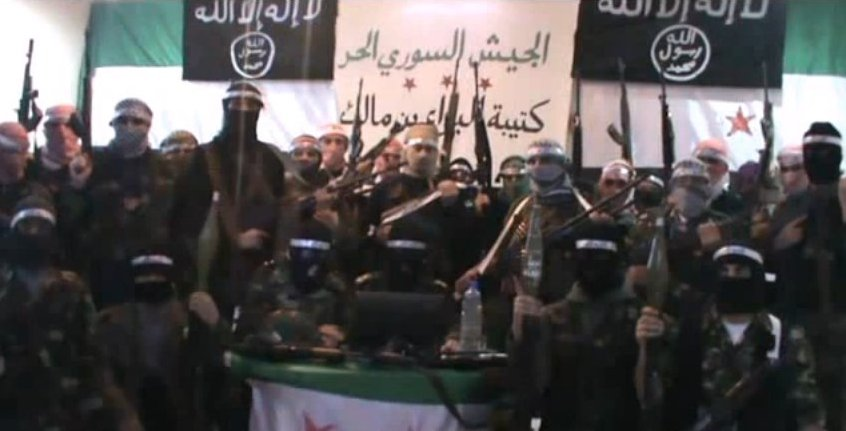 Undated group photo of Syrian terror groups