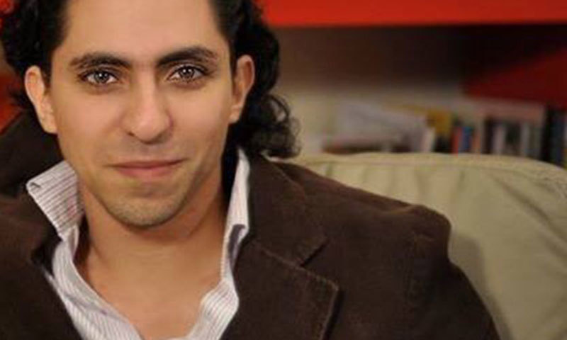 Photo 30-year-old Raef Badawi, co-founder of the now-banned Saudi Liberal Network.—Photo:Facebook